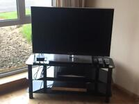 TV with stand and DVD player