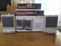 Sound Mate 4 multimedia PC speaker system - battery or mains powered
