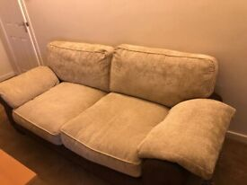 3 Seater fabric sofa comfortable and good condition