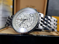 Rossco's Purveyors of Quality Watches. Breitling Navitimer - Silver Bracelet with White Face