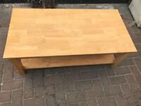 Solid Antique Pine Coffee Table