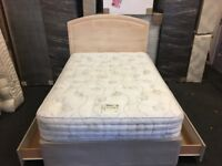 AS NEW RELYON 4ft 6' bed (FREE DELIVERY)