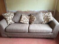 3 seater sofa scatter back