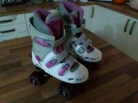 Girls quad roller boots size 13