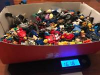 Huge container of Lego Minifigures and accessories