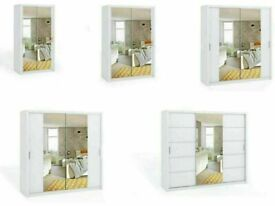 🔵💖🔴Decore your dreams🔵💖🔴BONITO SLIDING MIRROR DOORS WARDROBE IN DIFFERENT SIZES AND COLORS