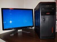 """Computer + 22"""" Monitor"""