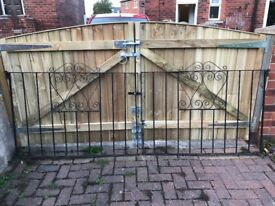 Iron Drive way gates and Side gates