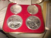 Canada 1972 Montreal Olympic Games 4 Coin Set post incd