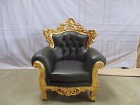 NEW 4 Piece Vienna Gold leaf red gilded Chaise Longue Set Wedding Sofa Ornate Carved Furniture