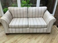 M&S cream striped Sofa for sale