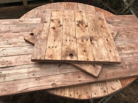 Reclaimed Wood Table Tops x 10. FREE DELIVERY