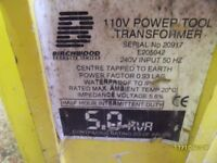 a big 110v transformer