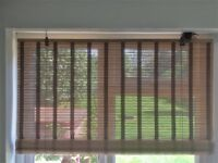 Bamboo blind 120cm wide 150cm drop easy fit | 2 blinds available | Used by excellent condition