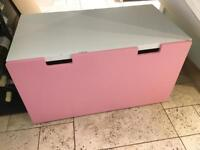 IKEA STUVA Storage Bench with Pink front draw