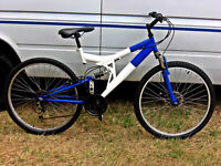 """ADULTS FULL SUSPENSION DISC BRAKE MOUNTAIN BIKE 18SPD WITH A 18"""" INCH FRAME"""