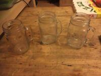 Jar Mugs, Glass - lot 12 (mixed)