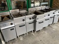 GAS 2 BASKET CATERING COMMERCIAL KITCHEN FRYER FAST FOOD RESTAURANT CAFE CHICKEN KEBAB