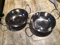 NEW silver serving bowls