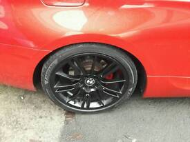 "Bmw mv3 staggered alloy wheels 18"" + tires swap swap 19s"