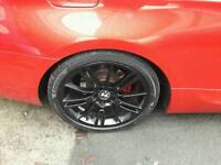 """Bmw mv3 staggered alloy wheels 18"""" + tires swap swap 19s"""
