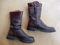 Spanish Leather Riding Boots (short) Size 5