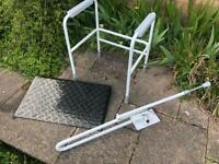 Mobility aids bundle including ramp, toilet and shower aid