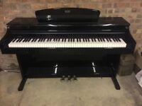 Glossy black digital piano GEM RP-800 made in Italy