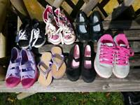 7 x pairs of girls size 1 shoes for sale