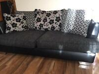 DFS Fabric & Leather Sofa Set and Chair