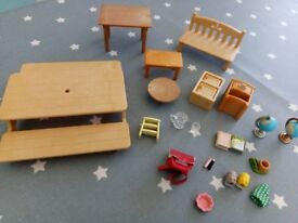 Sylvanian assorted furniture and household item set