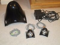 JBL Creature II Subwoofer and 2 satellite speakers in black