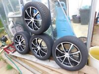 SET OF ALLOYS 195 X 50 R15 LOADS OF TREAD ON TYRES £120 ono