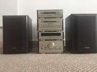 Technics hi-fi. CD and cassette player amp/radio. Quality system with good sound.