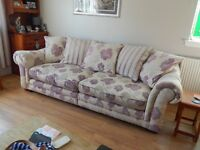 QUALITY FABRIC 3 SEATER SOFA AND ARMCHAIR