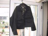 Raintex waxed wading jacket - large. Hardly used - as new. detachable hood