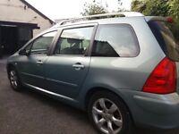 Peugeot 307 est,1600 semi-automatic,mot jan 19,e/windows,sat nav,picnic trays,