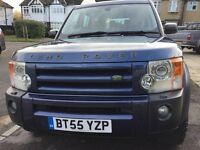 2006 LAND ROVER DISCOVERY 3 2.7 TDV6 SE DIESEL 187 bhp 7 Seats 4X4 Estate, BLUE Color,117000 Miles