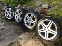 Set of 4 19 inch Mercedes alloys
