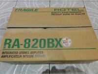 Award Winner vintage ROTEL RA-820B AMPLIFIER box and manuals Warm Sounding Amp