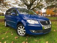 2008 VW TOURAN 2.0 TDI SPORTS ** NEW MOT ( NO ADVISORY ) ** PARKING AID ** 7 SEATS