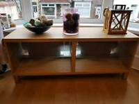 Oak effect TV stand