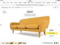 Brand new Made Dylan Sofa - Yolk Yellow