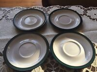 DENBY Greenwich replacement saucers - no cups ( tea / coffee / set )