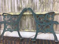 Heavy Fleur De Lys Cast Iron Garden Bench Ends Few Sets Available- DELIVERY/COLLECTION WIGAN