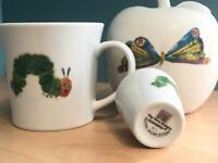 The Very Hungry Caterpillar Apple Money Box, mug & egg cup