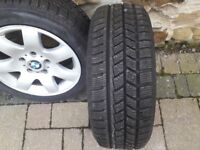 BMW 320D alloy rims with winter tyres