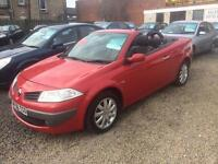 Renault Megane 1.9 DIESEL CONVERTIBLE 56 Reg leather interior 6 speed immaculate finance £25 a week