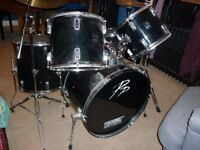 ** 5 Piece Drumkit - complete set of drums / cymbals / stool etc from Performance Percussion **