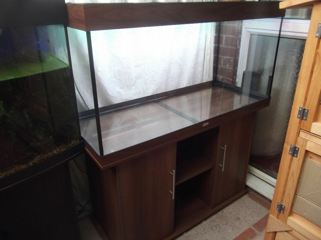 juwel rio 300 fish tank aquarium dark wood and stand in castle bromwich west midlands gumtree. Black Bedroom Furniture Sets. Home Design Ideas